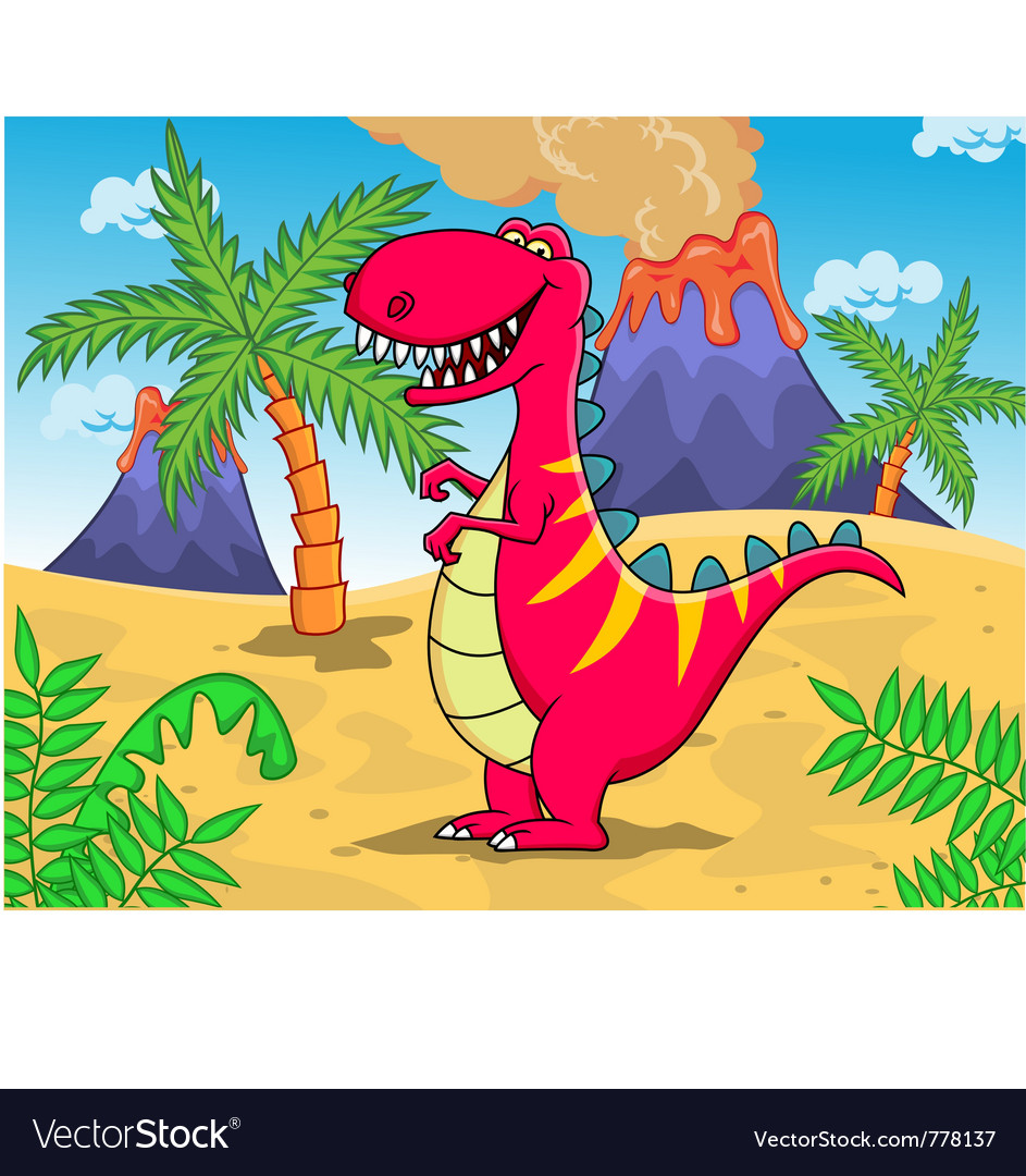 Dinosaur cartoon vector | Price: 3 Credit (USD $3)