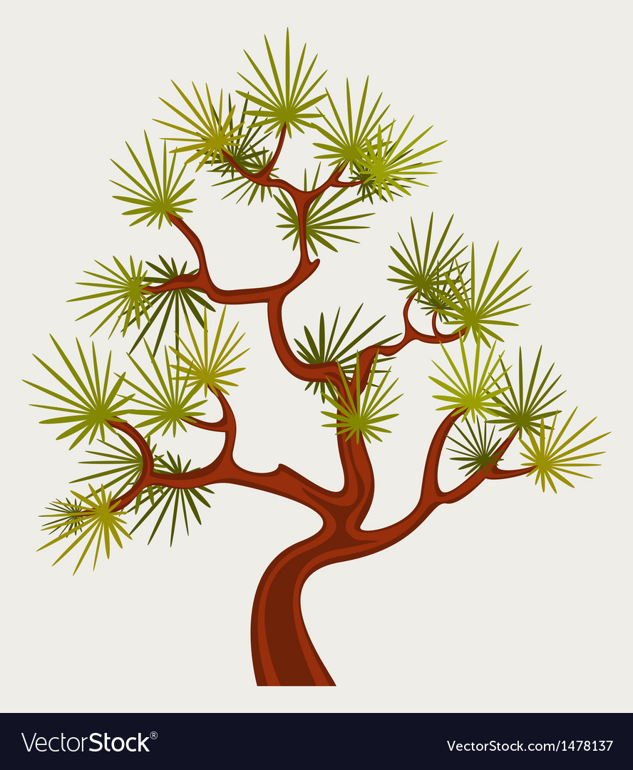 Fantastic pine tree vector | Price: 1 Credit (USD $1)