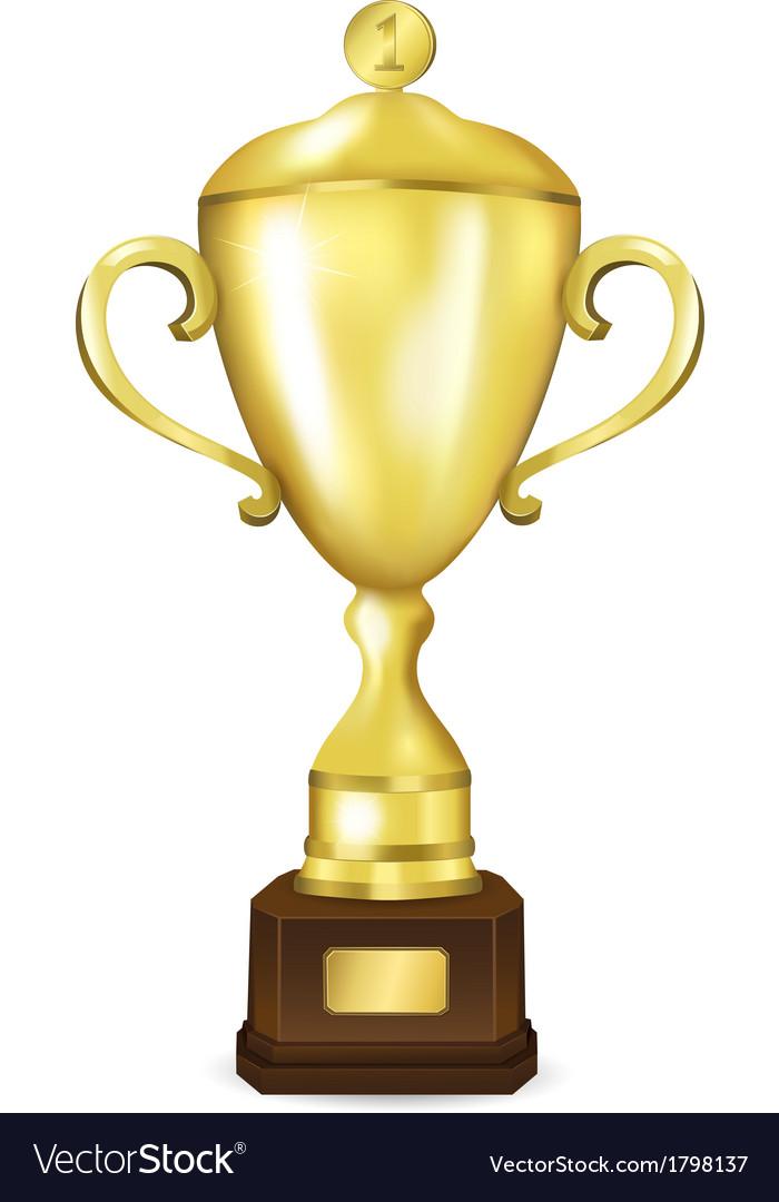 Golden cup winner vector | Price: 1 Credit (USD $1)
