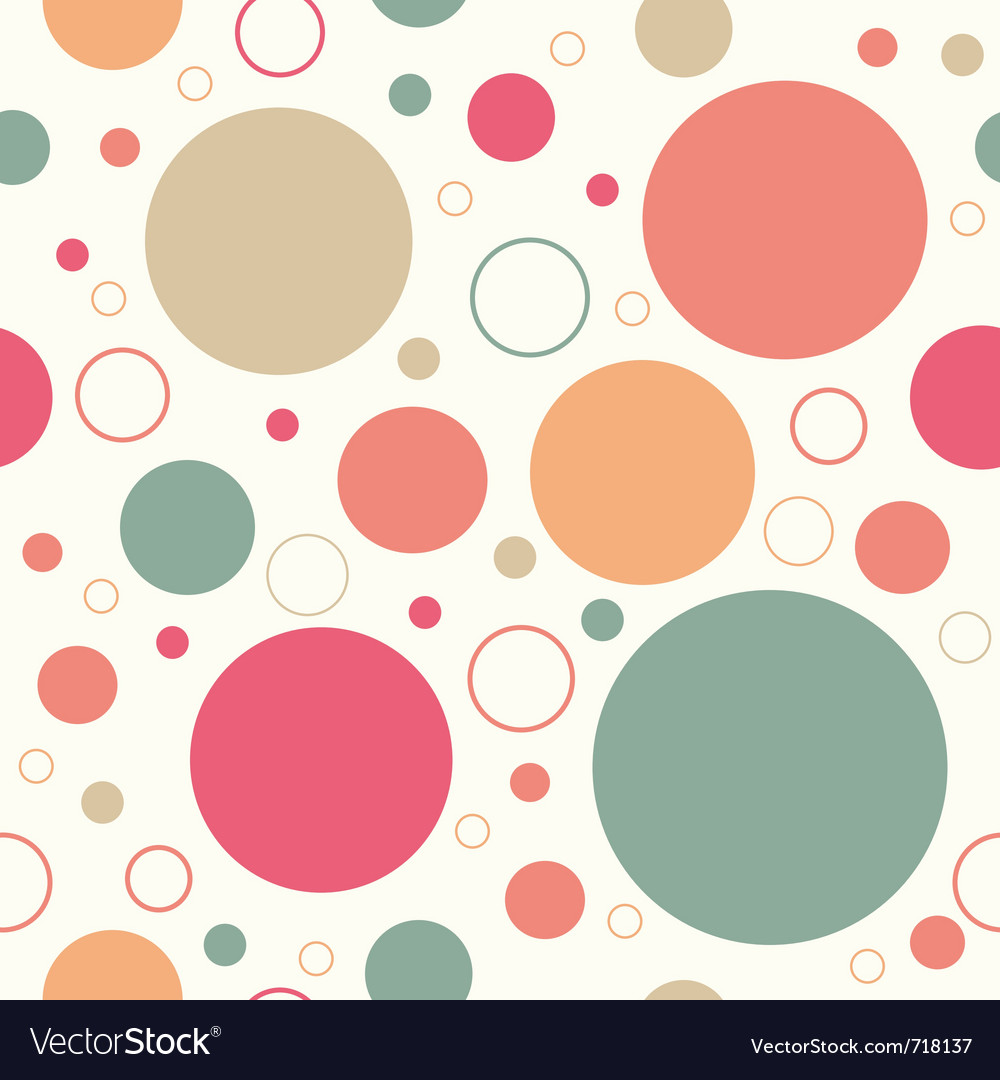 Retro circles pattern vector | Price: 1 Credit (USD $1)