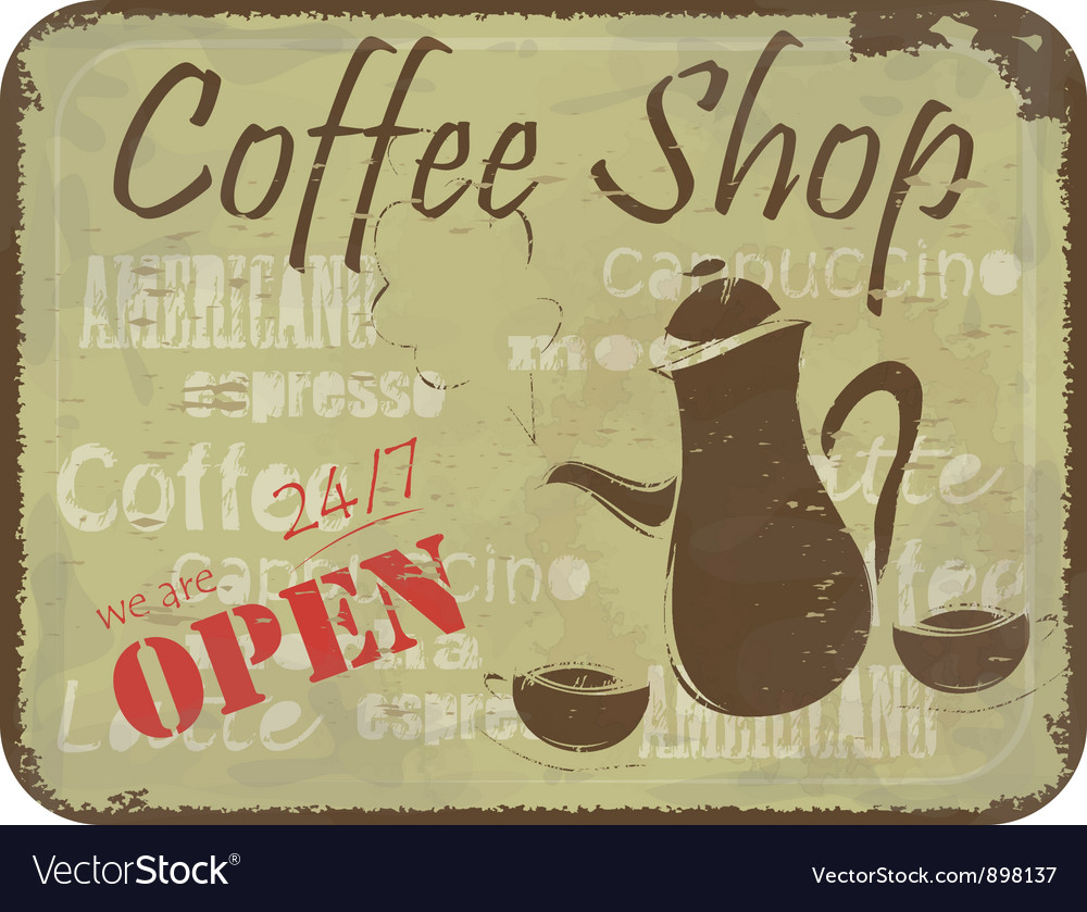 Sign pattern for coffee shop vector | Price: 1 Credit (USD $1)