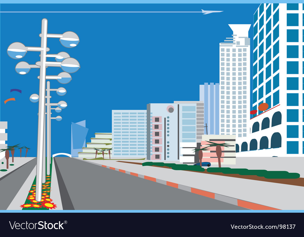 Skyline vector | Price: 1 Credit (USD $1)