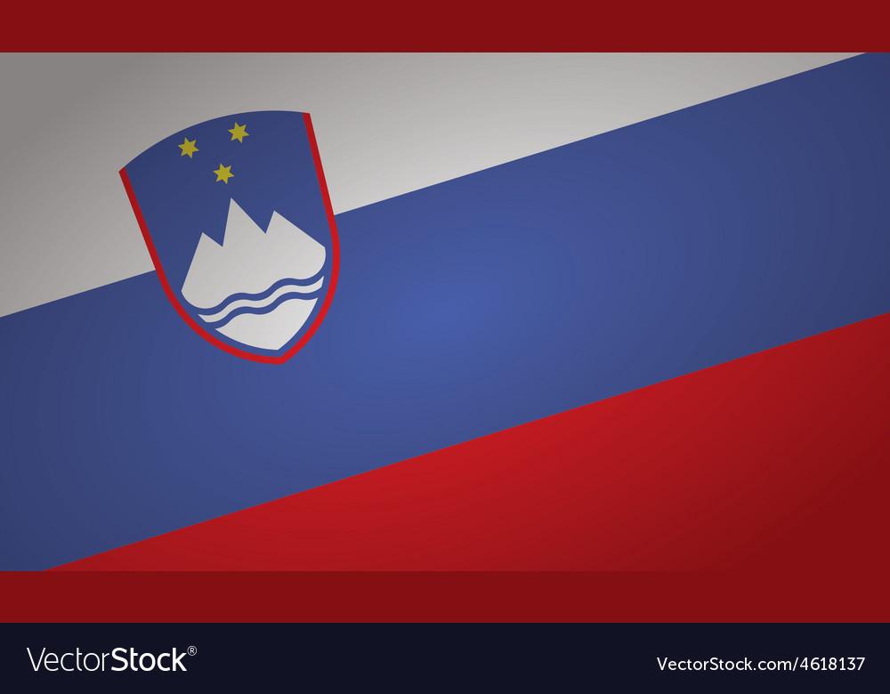 Slovenia flag pin vector | Price: 1 Credit (USD $1)