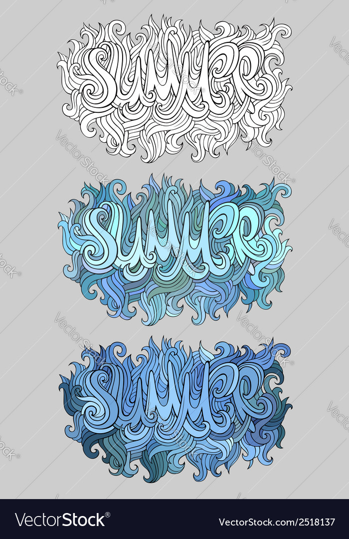Summer hand lettering vector | Price: 1 Credit (USD $1)