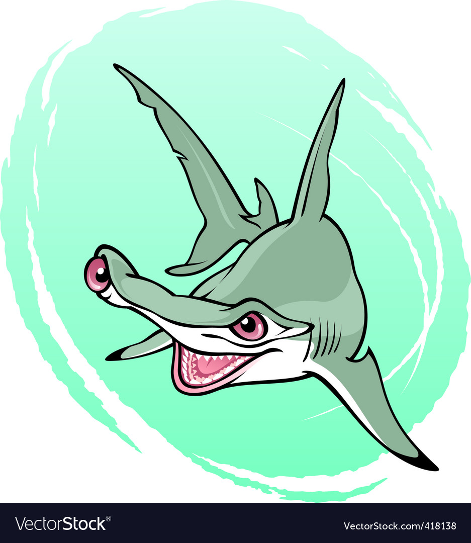 Crazy hammerhead shark vector | Price: 3 Credit (USD $3)