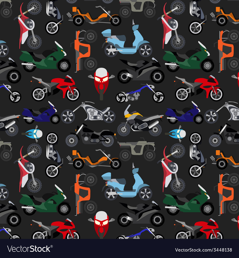 Motorcycles background pattern vector | Price: 1 Credit (USD $1)