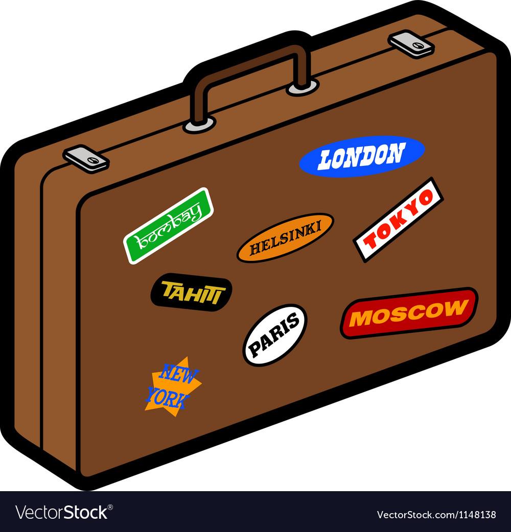 Retro suitcase vector