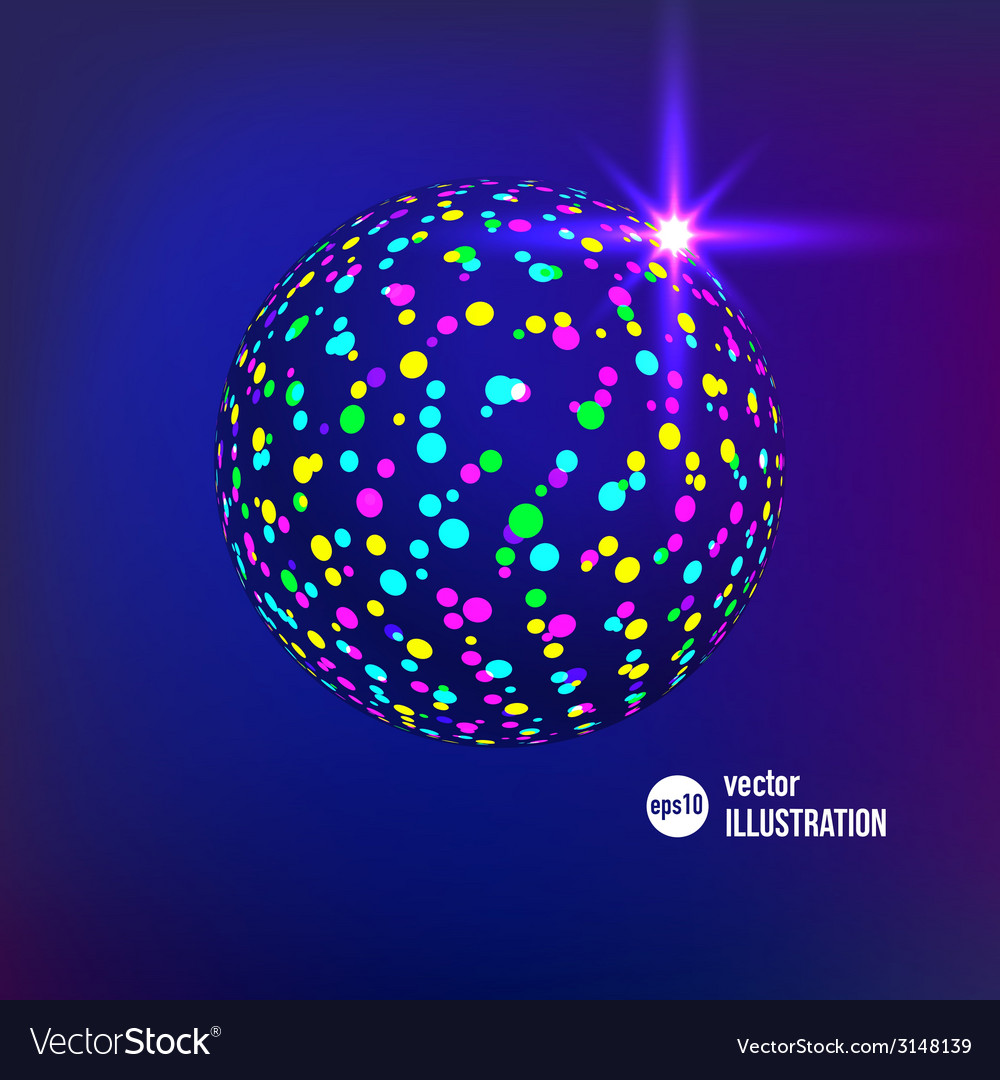 Abstract glitterball vector | Price: 1 Credit (USD $1)