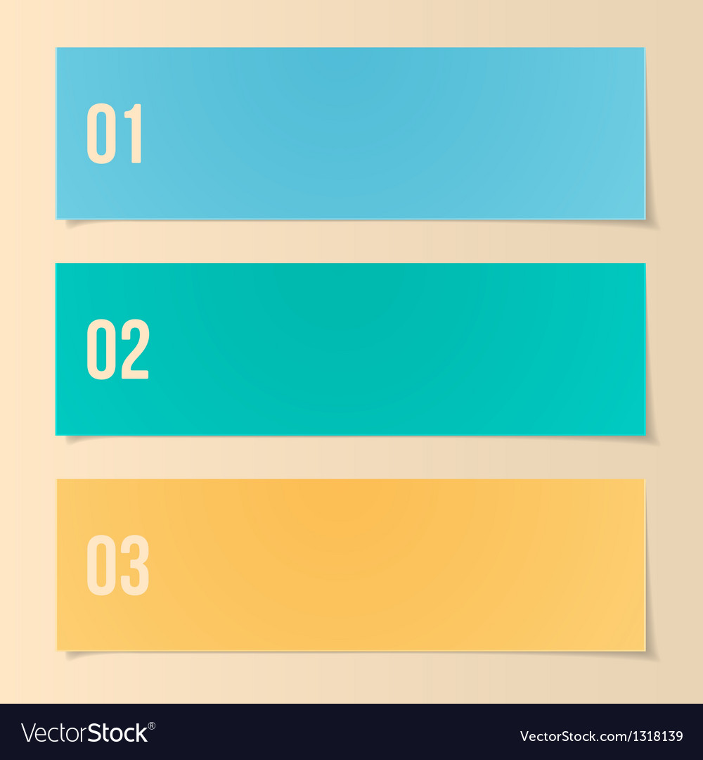 Design template for infographics numbered banners vector | Price: 1 Credit (USD $1)