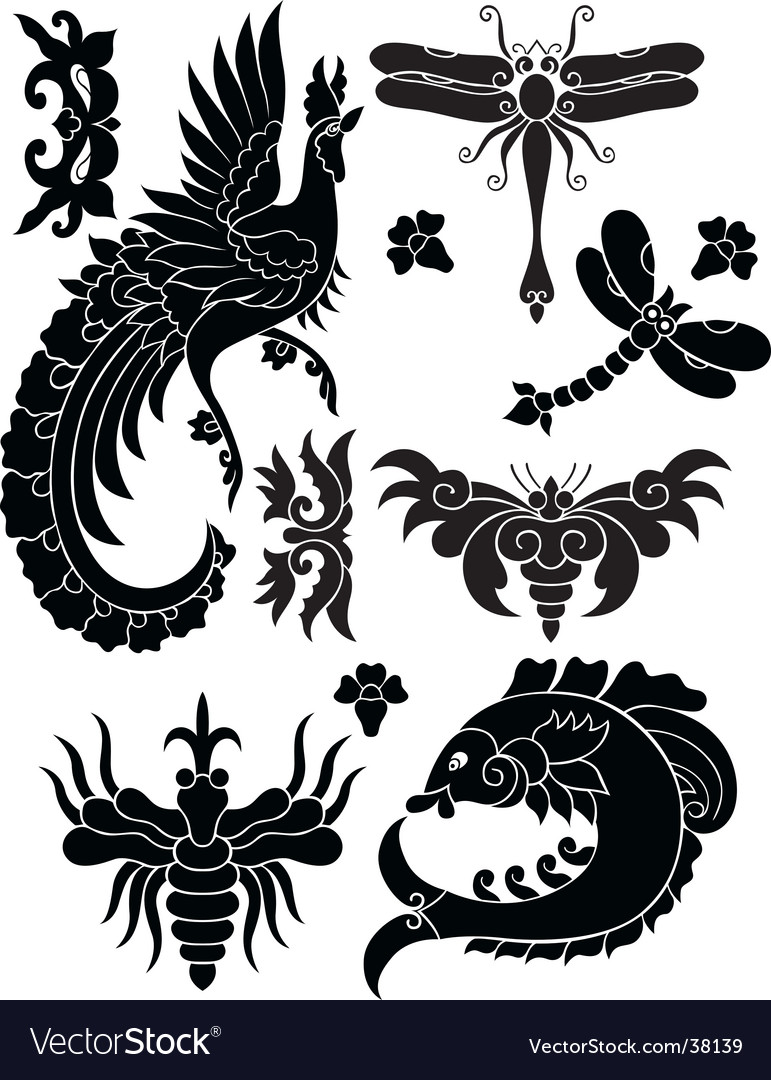 Fauna decorative elements vector | Price: 1 Credit (USD $1)