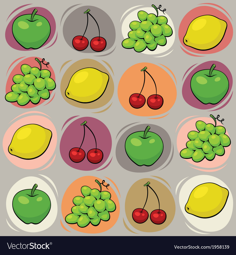 Fruits pattern vector | Price: 1 Credit (USD $1)