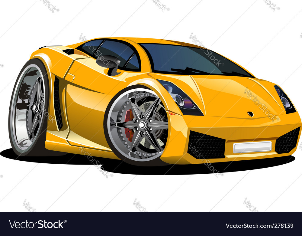 Modern cartoon car vector | Price: 3 Credit (USD $3)