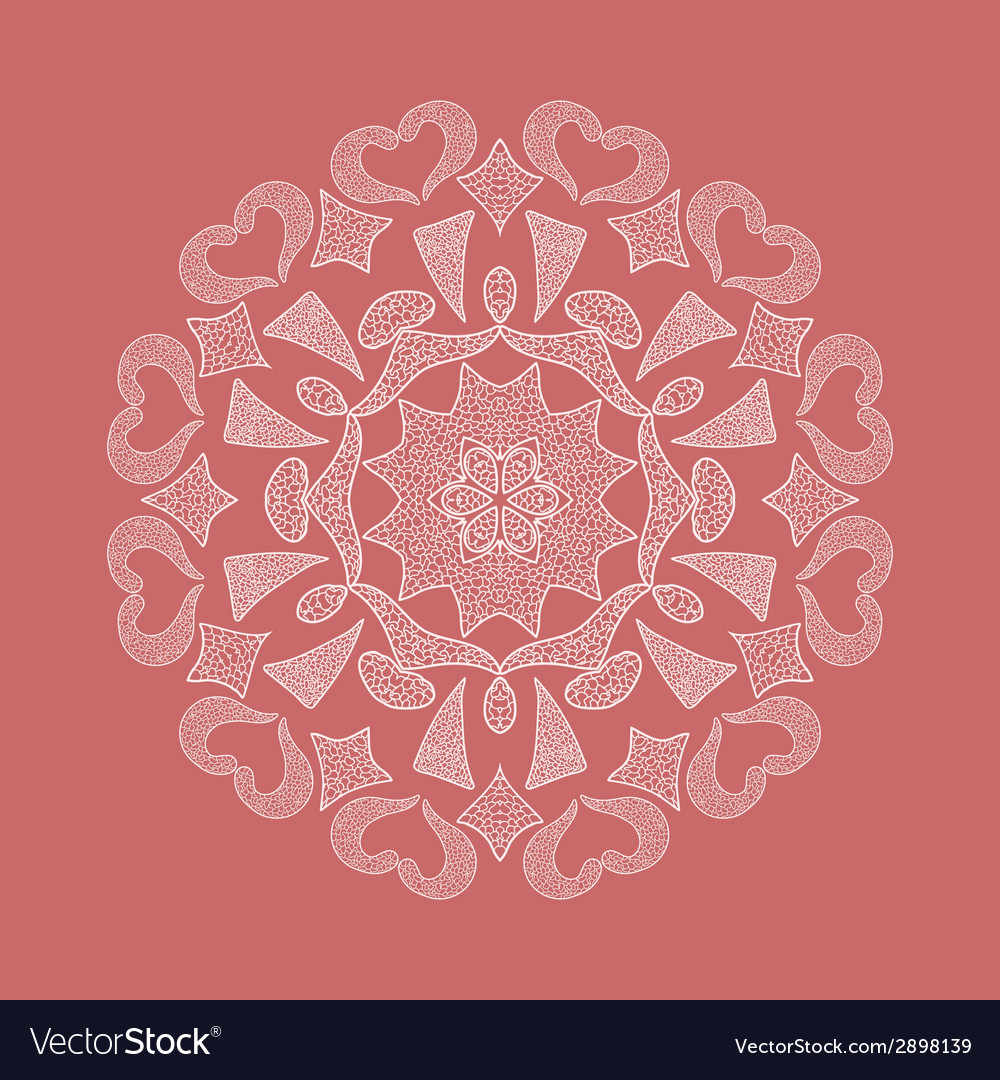 Ornamental round lace vector | Price: 1 Credit (USD $1)