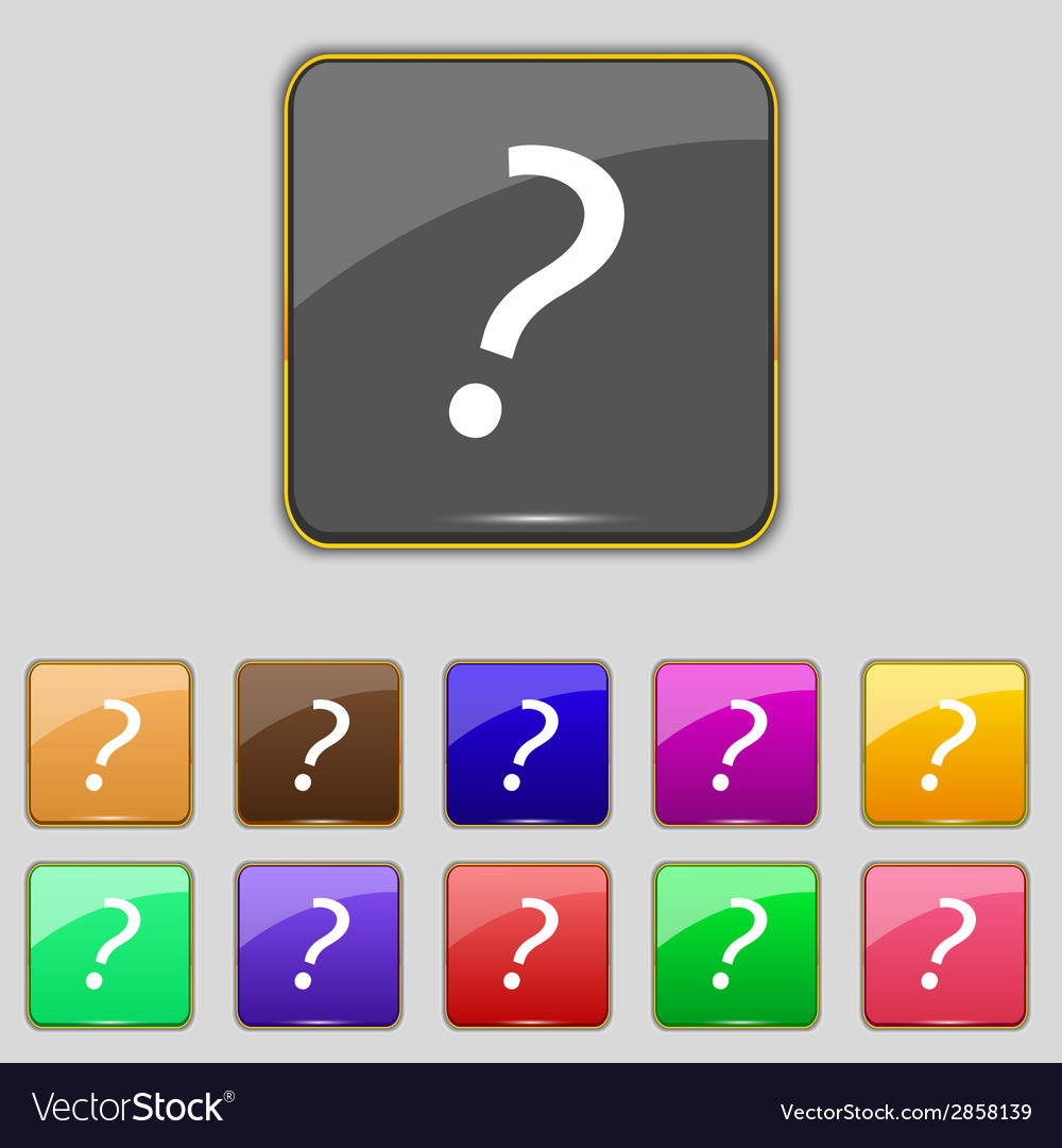 Question mark sign icon help symbol faq sign set vector | Price: 1 Credit (USD $1)