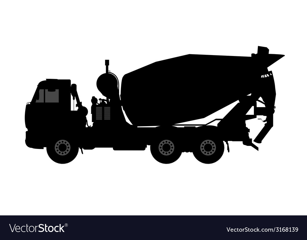 Silhouette of a concrete mixer vector | Price: 1 Credit (USD $1)