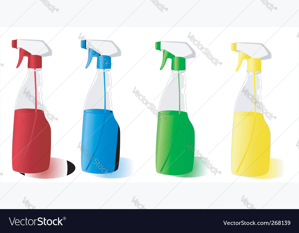 Spray bottles vector | Price: 1 Credit (USD $1)