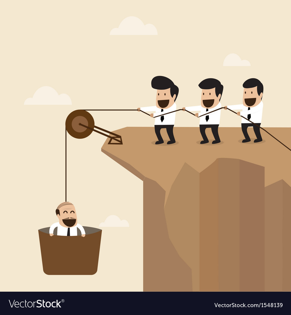 Teamwork concept businesspeople help to pull anot vector   Price: 1 Credit (USD $1)