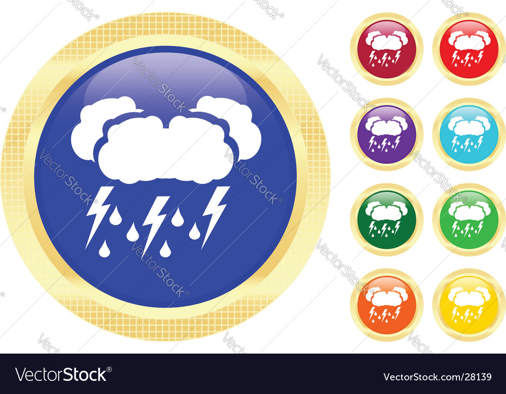 Thunderstorm icons vector | Price: 1 Credit (USD $1)
