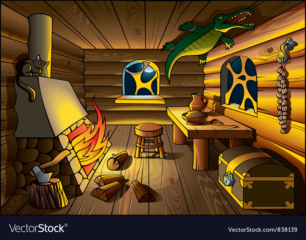 Witch house inside vector   Price: 1 Credit (USD $1)