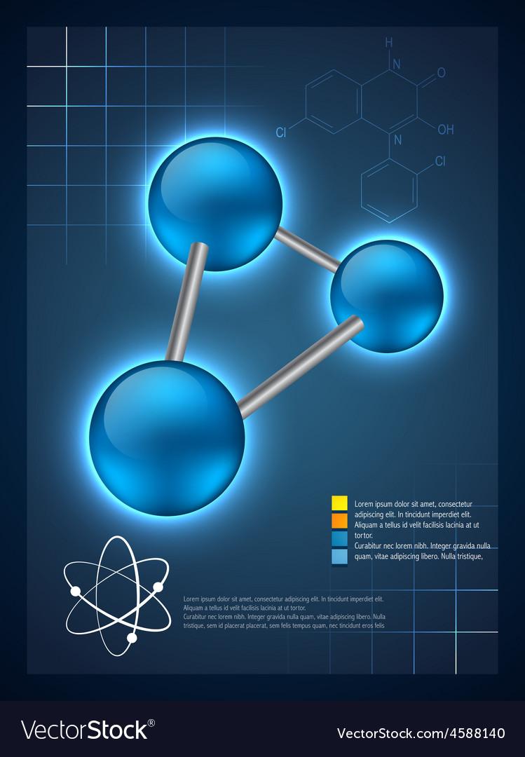 3d molecular infographic template design vector | Price: 1 Credit (USD $1)
