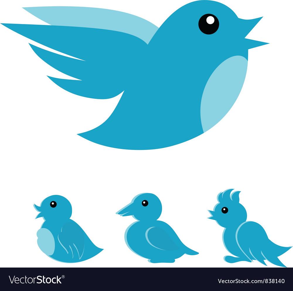 Blue bird vector | Price: 1 Credit (USD $1)