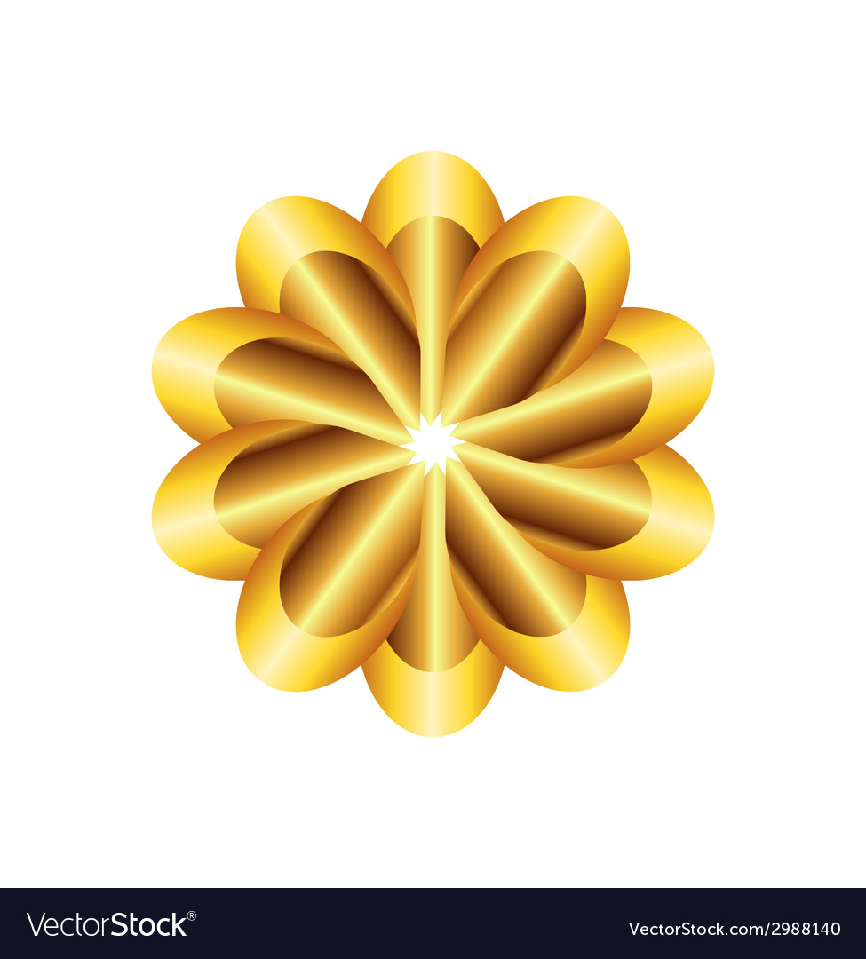 Golden flower vector | Price: 1 Credit (USD $1)