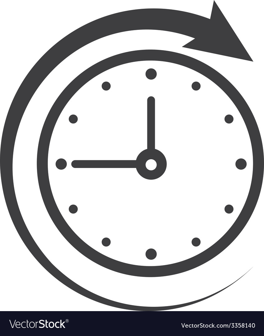 Icon of symbol sign open around the clock or 24 vector | Price: 1 Credit (USD $1)