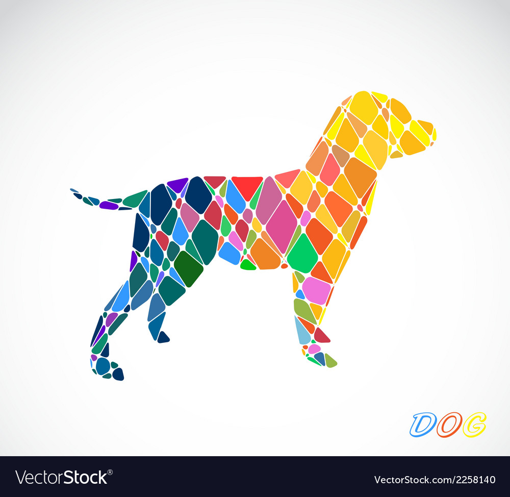 Labrador dog abstract isolated vector | Price: 1 Credit (USD $1)