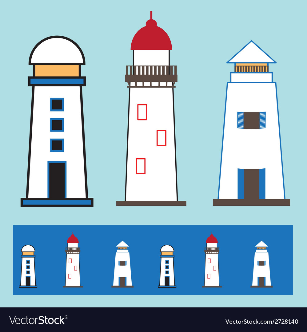 Light house icon 002 vector | Price: 1 Credit (USD $1)