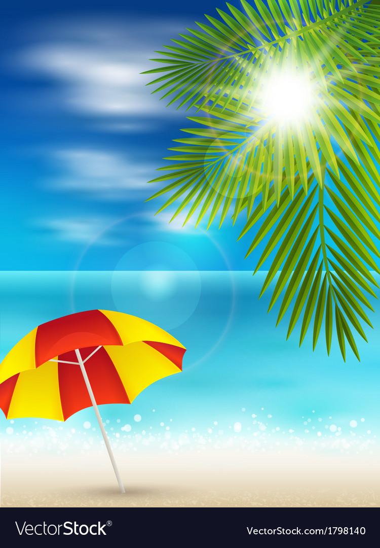 Nice beach vector | Price: 1 Credit (USD $1)