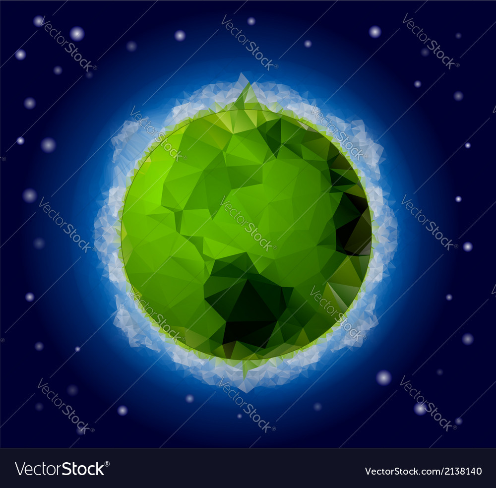 Poligonal planet 2 vector | Price: 1 Credit (USD $1)