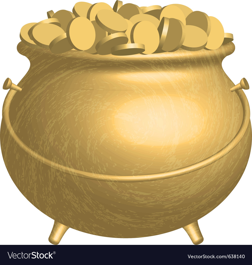 Pot with coins vector | Price: 1 Credit (USD $1)