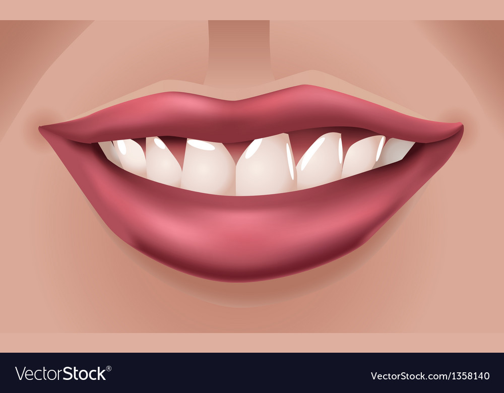 Red smiling lips vector | Price: 1 Credit (USD $1)