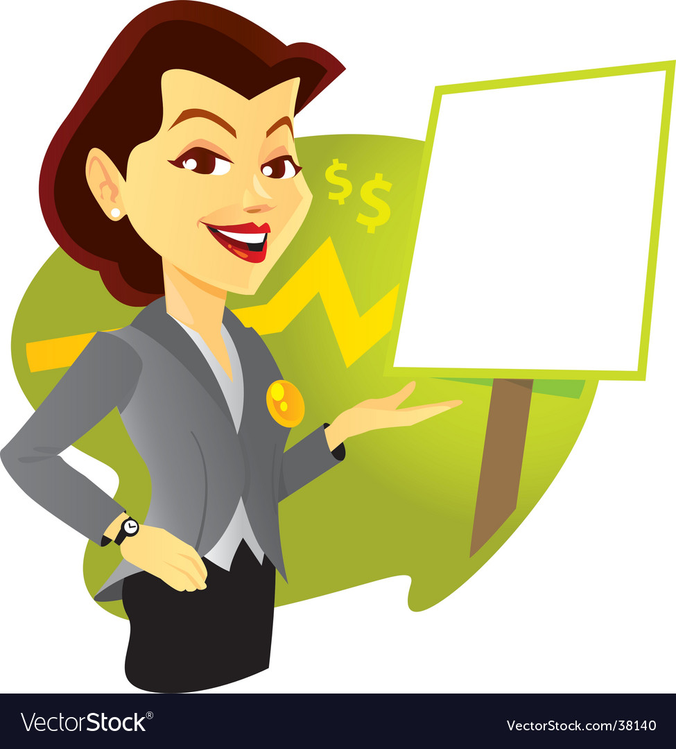 Sales woman vector | Price: 1 Credit (USD $1)