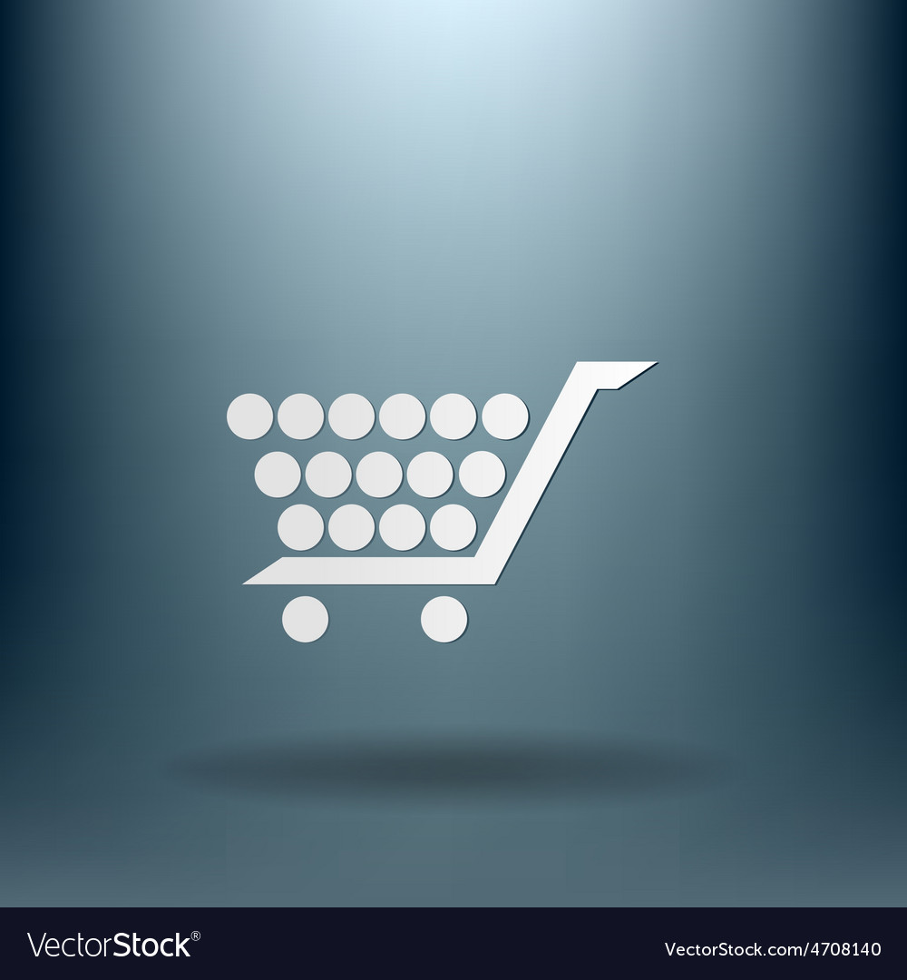 Shopping cart icon vextor vector | Price: 1 Credit (USD $1)
