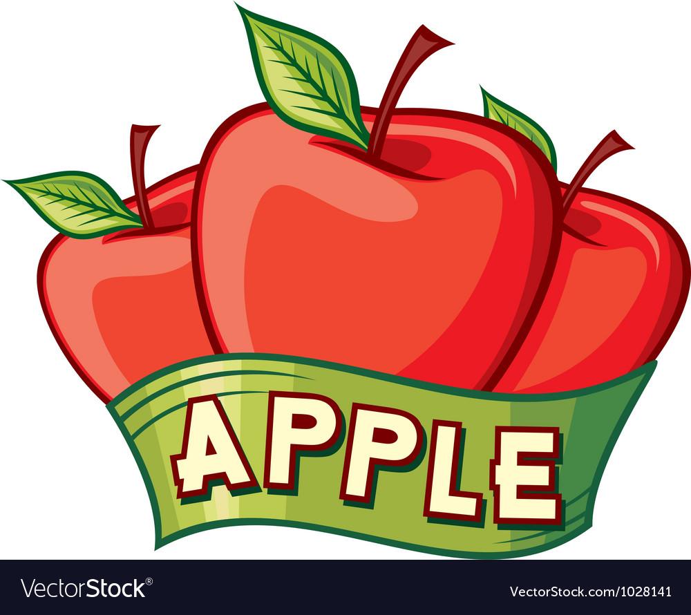 Apple label design vector | Price: 1 Credit (USD $1)
