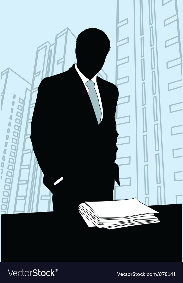 Businessmen office silhouette vector | Price: 1 Credit (USD $1)