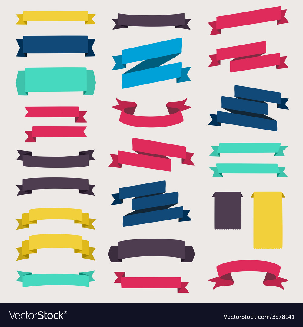 Colorful and decorated paper banners vector | Price: 1 Credit (USD $1)