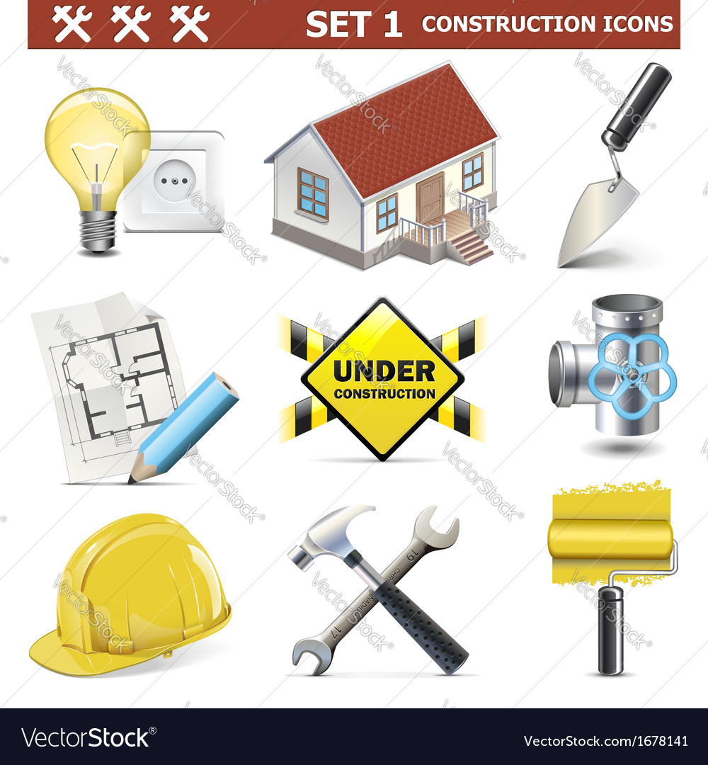 Construction icons set 1 vector | Price: 1 Credit (USD $1)