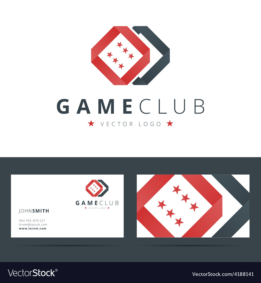 Game club or casino logo template with business vector | Price: 1 Credit (USD $1)