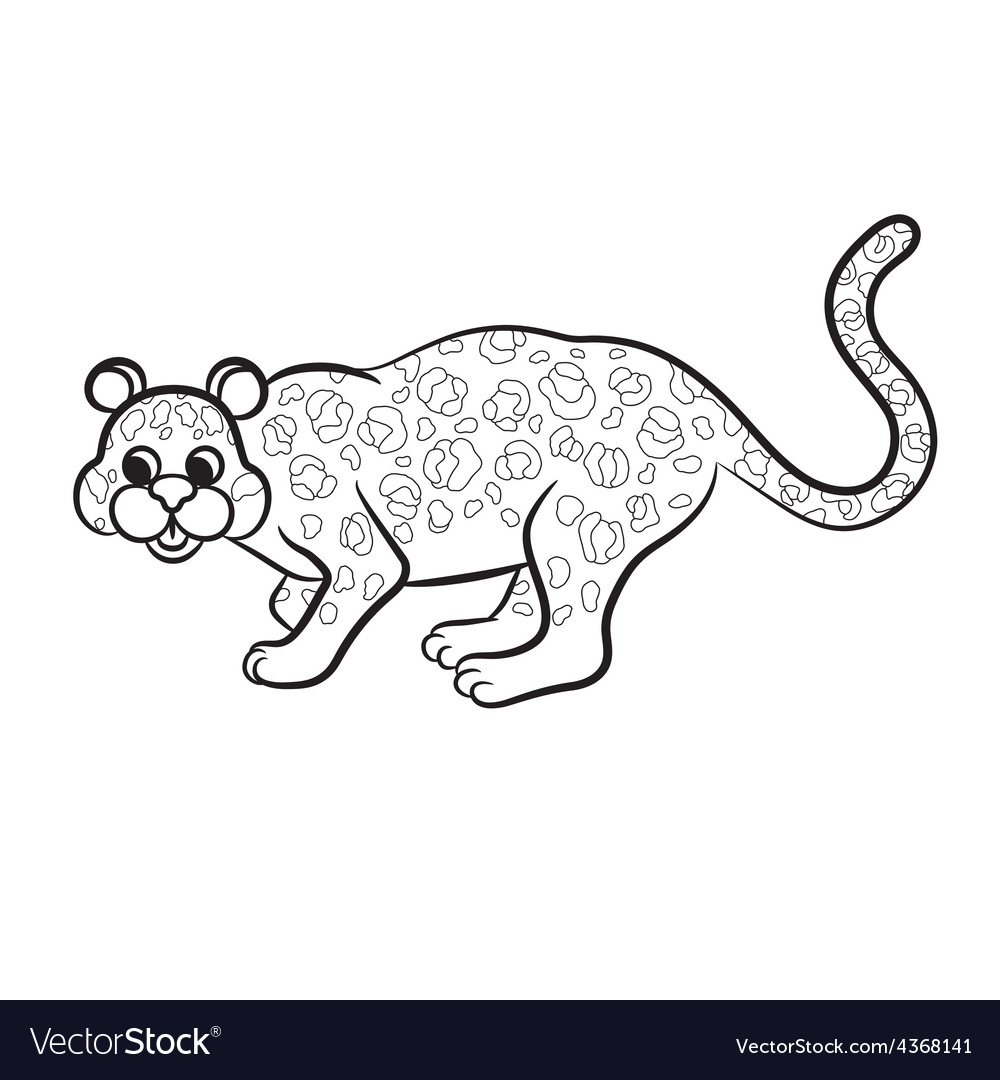 Leopard black and white vector | Price: 1 Credit (USD $1)