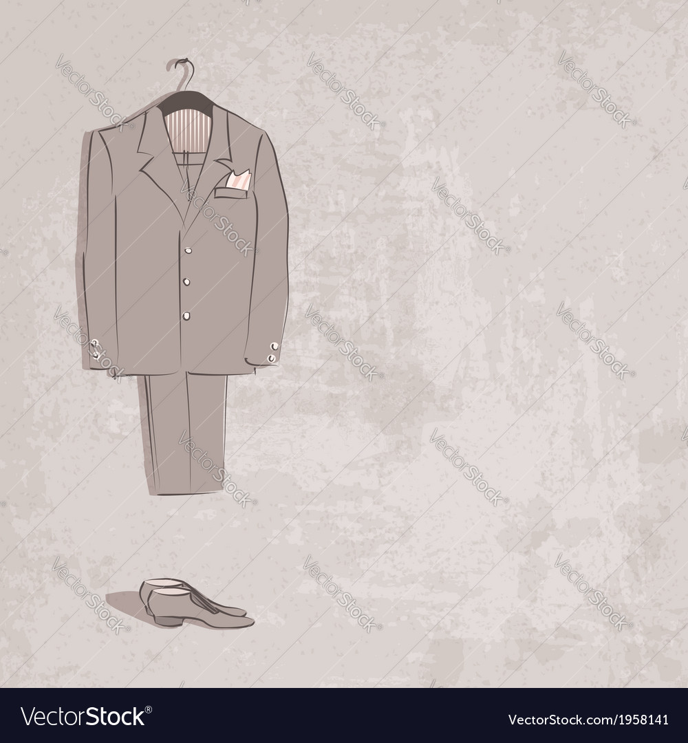 Sketch groom suit vector | Price: 1 Credit (USD $1)