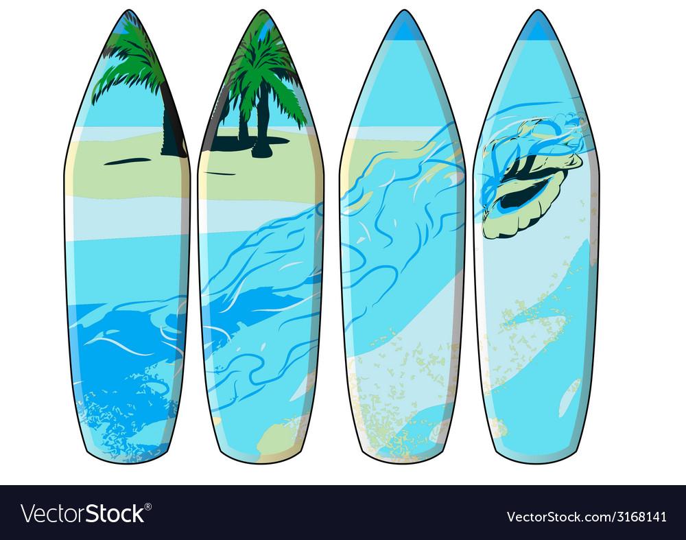 Surf board vector | Price: 1 Credit (USD $1)