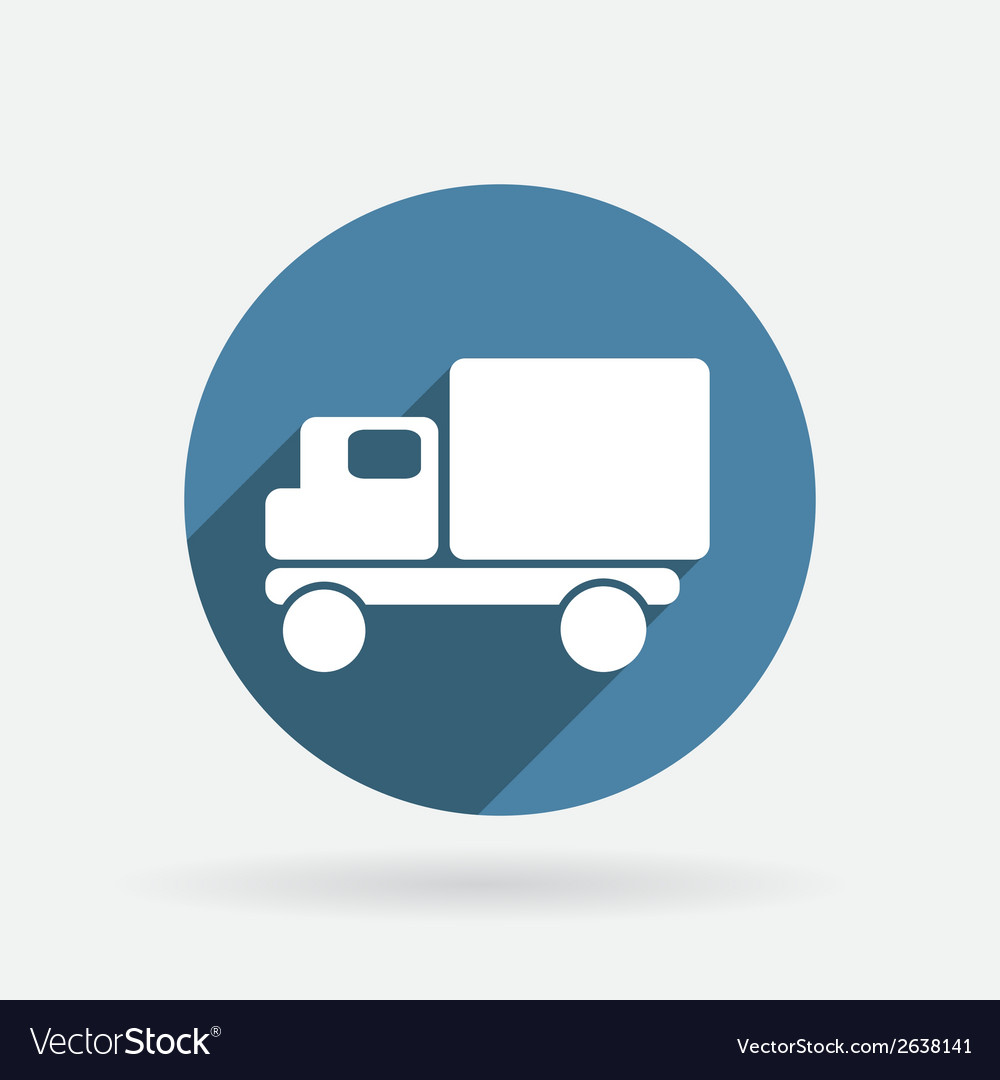 Truck logistic icon circle blue icon with shadow vector | Price: 1 Credit (USD $1)