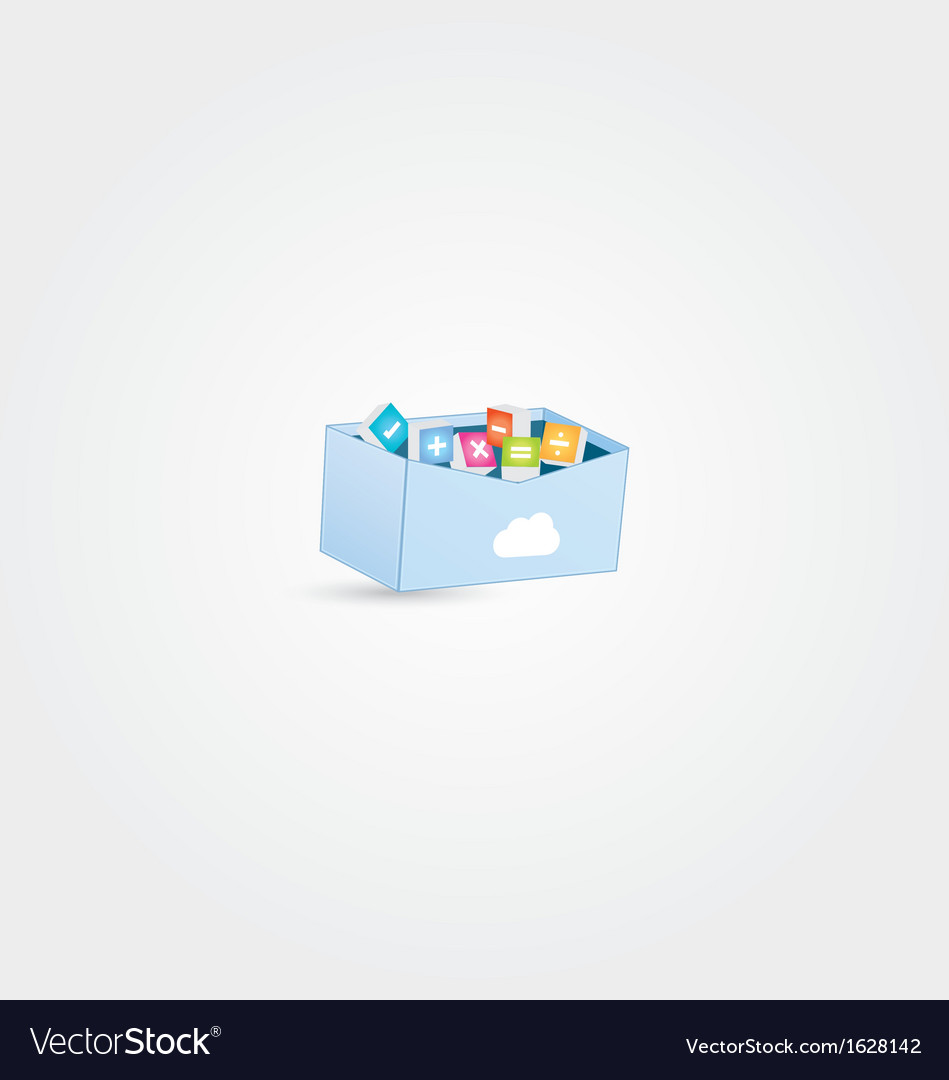 Cloud maths box vector | Price: 1 Credit (USD $1)