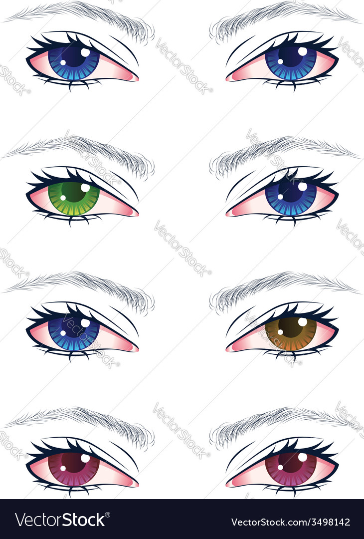 Colorful male eyes2 vector | Price: 1 Credit (USD $1)