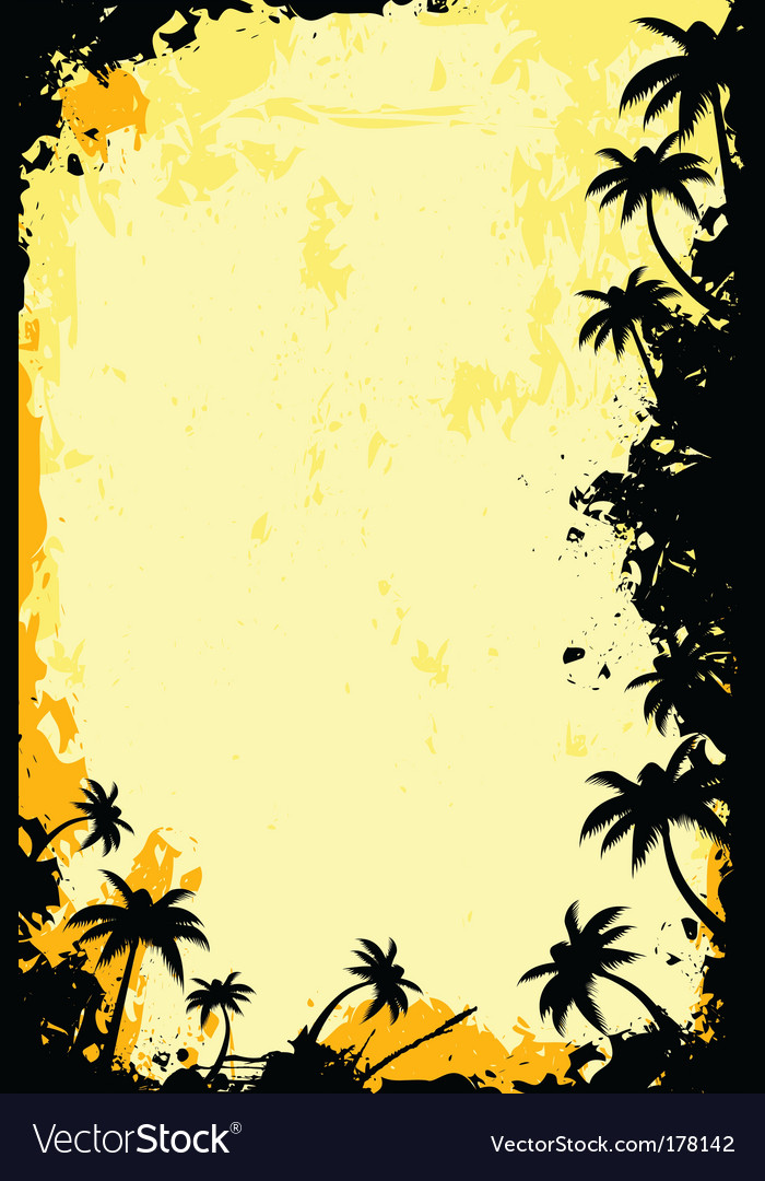 Grunge tropical frame vector | Price: 1 Credit (USD $1)