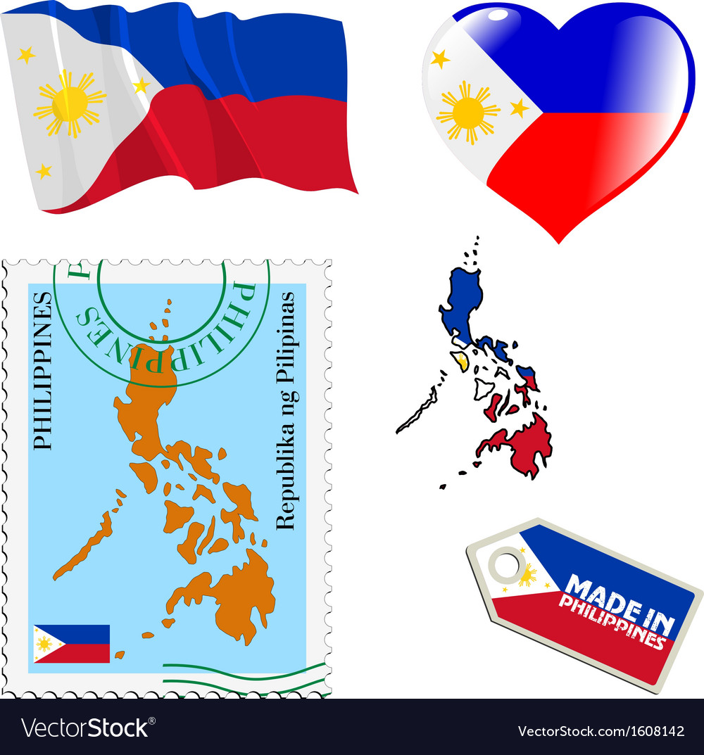 National colours of philippines vector | Price: 1 Credit (USD $1)