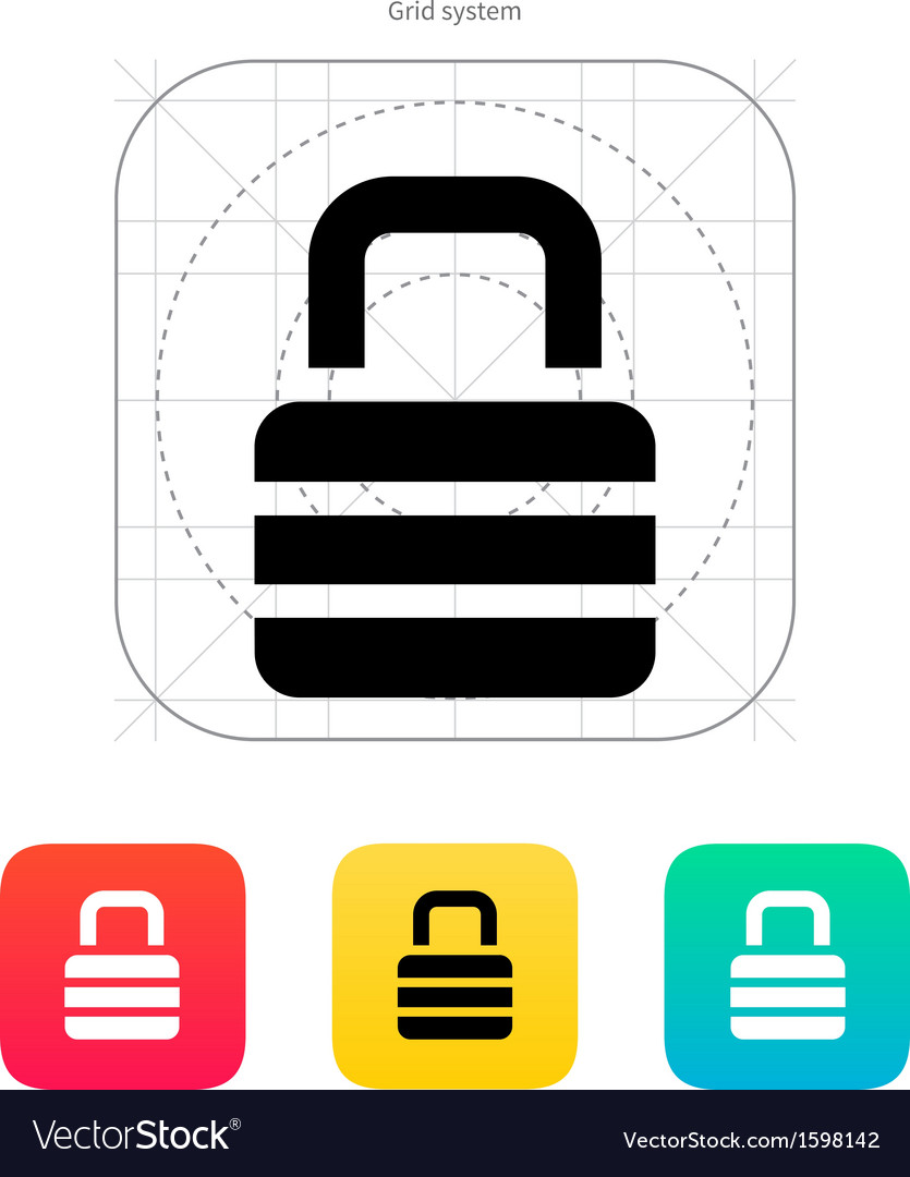 Padlock icon vector | Price: 1 Credit (USD $1)