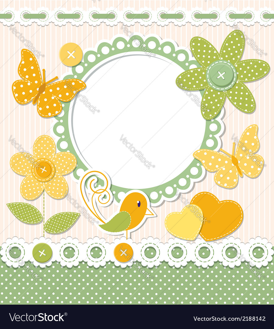 Retro frame and scrapbook elements vector | Price:  Credit (USD $)